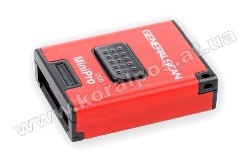 Cканер штрих кодов General Scan GS-M300BT CCD mini Black