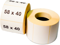 Термо этикетка самоклеющаяся 58 х 40