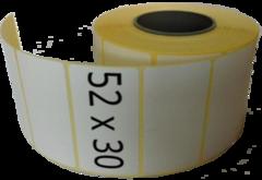 Термотрансферная этикетка самоклеющаяся 52 х 30